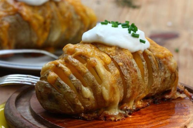 Картошка-гармошка рецепт с фото с сыром и