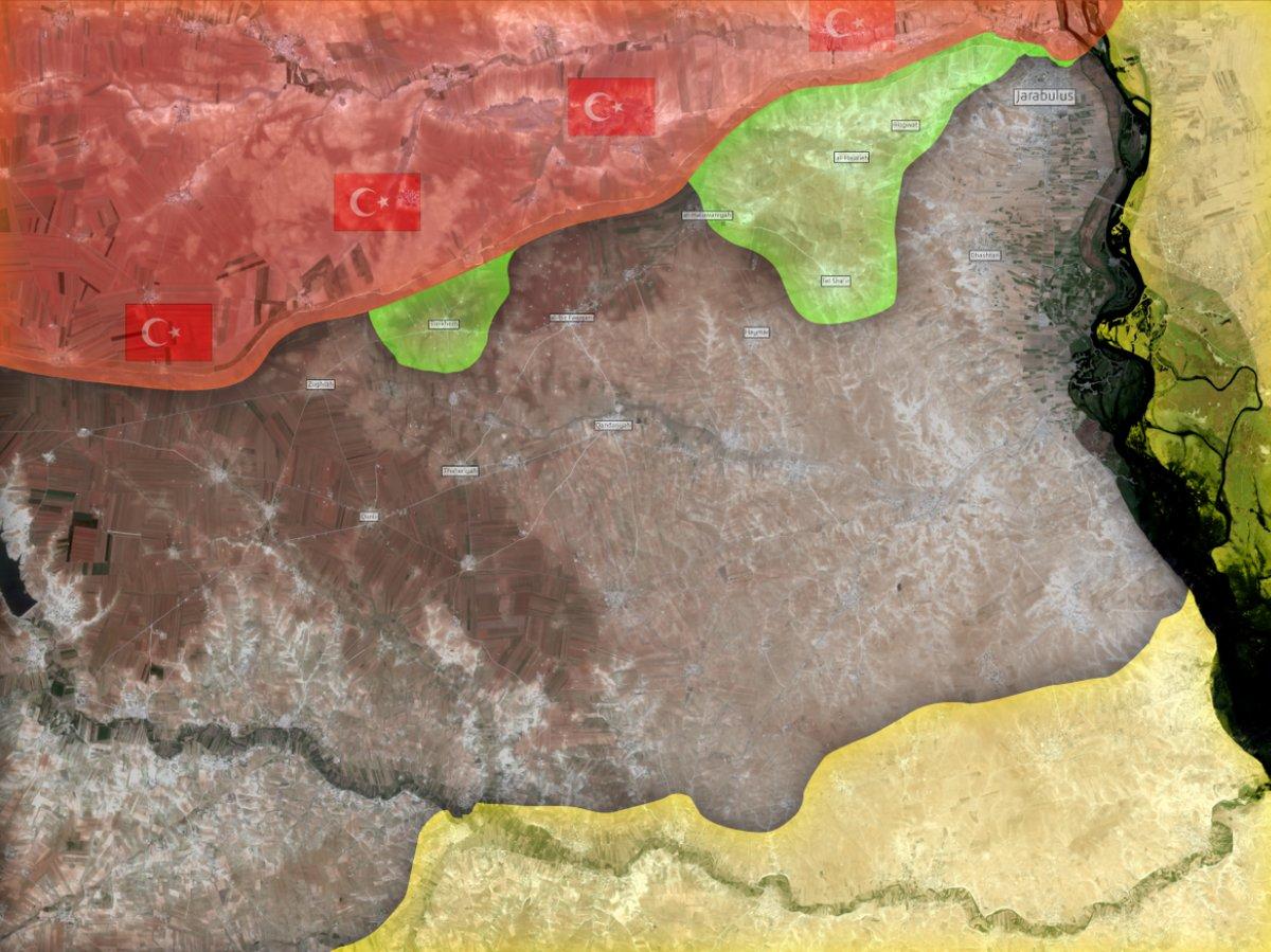 Исламисты при поддержке турецкой армии взяли под контроль пять селений западнее Джараблуса