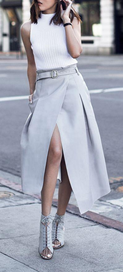 Как и с чем правильно носить длинные юбки