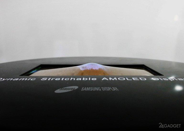 Новые экраны Samsung можно скручивать, сгибать и продавливать