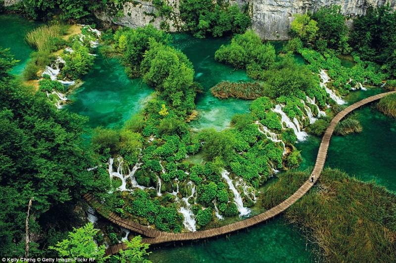 Плитвицкие озёра, национальный парк в Хорватии красиво, планета, природа, путеводитель, путешествия, туризм, фото, чудо природы