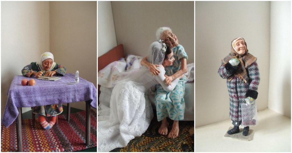 Реалистичные куклы, рассказывающие о жизни российских стариков