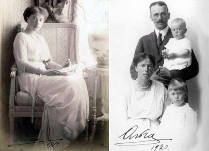 Великая княгиня с мужем, полковником Куликовским, и детьми | Фото: romanovs-russia.blogspot.com