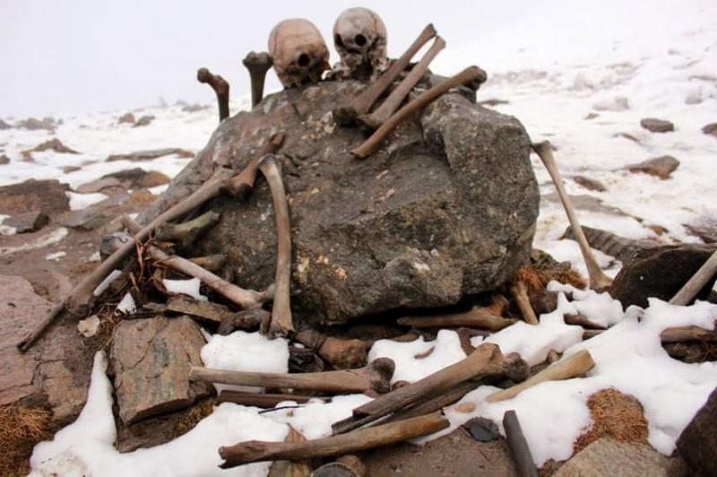 7. Озеро Скелетов (Роопкунд), Индия загадка, земля, природа, явление