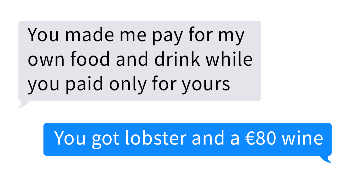 Guy Refuses To Pay $126 For His Date's Food, So She Shows Him Her True Colors