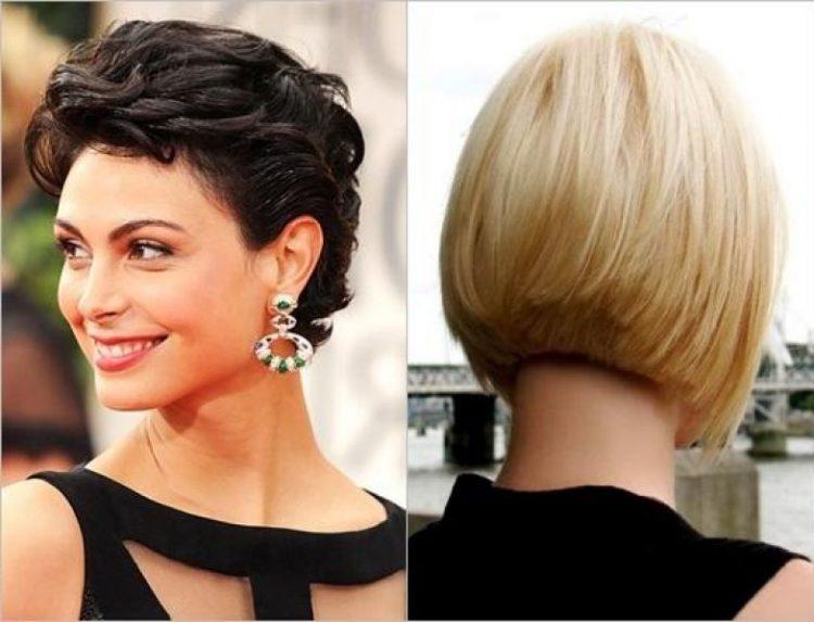 Короткие причёски сзади