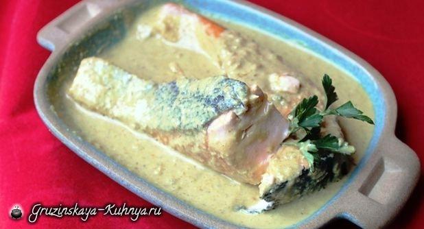 Сациви из рыбы. Грузинский рецепт