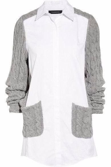 Утеплённые блузки