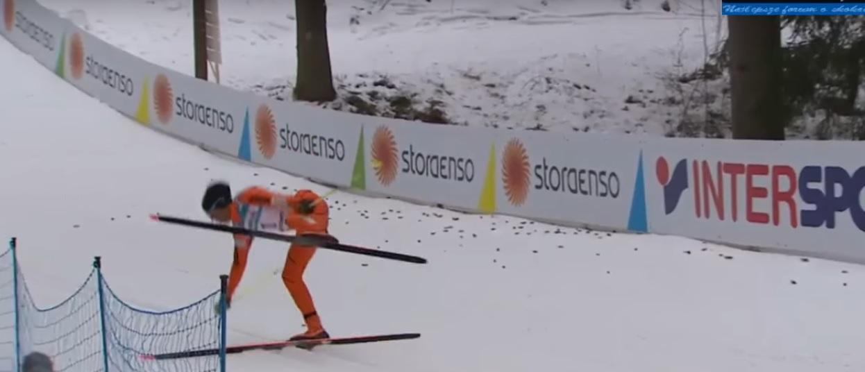Он первый раз увидел снег: Лыжник из Венесуэлы рассмешил зрителей на ЧМ в Финляндии