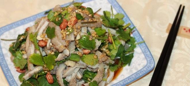 китайский салат из говяжьего рубца рецепт