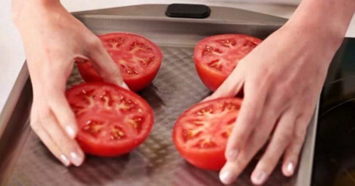 Запеченные помидоры —  быстрая, вкусная и полезная  закуска с сыром