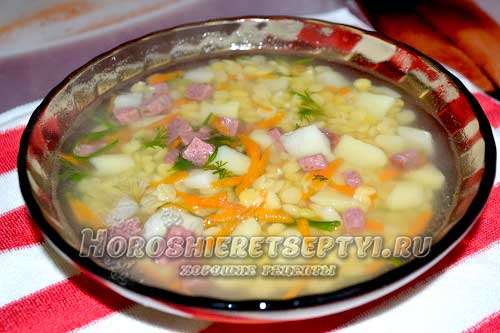 Суп с колбасой рецепты