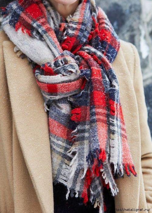 Завязываем шарф. Тёплый