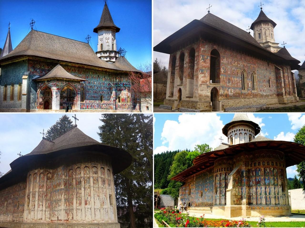 Православные граффити на стенах румынских монастырей