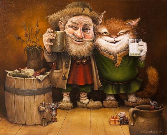 Домовой и Кот Кузьма - Часть 1-я.Автор рисунков - А.Маскаев