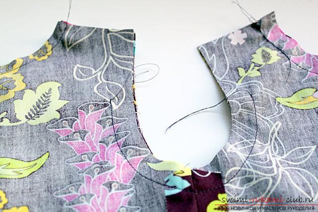 Пошив платья для дочки своими руками по инструкции с фото. Фото №18