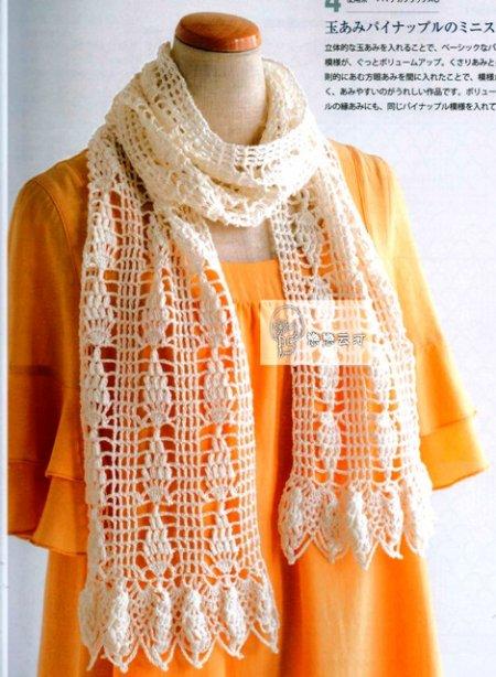 ажурные шарфы крючком схемы вязание крючком шарфа схемы и модели