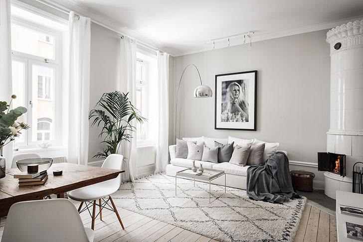 Кофе с молоком: теплый и нежный интерьер трехкомнатной квартиры (66 кв. м)