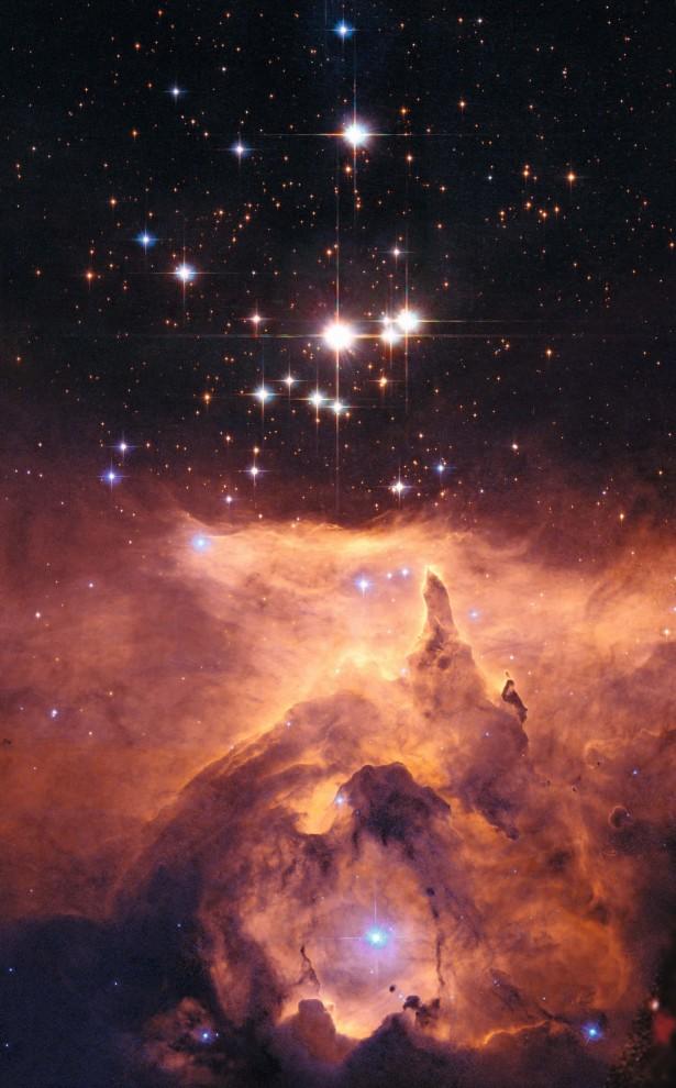 Скопление Pismis 24 в туманности NGC 6357
