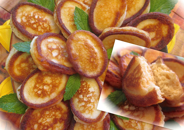 Кокосово-лимонные оладушки