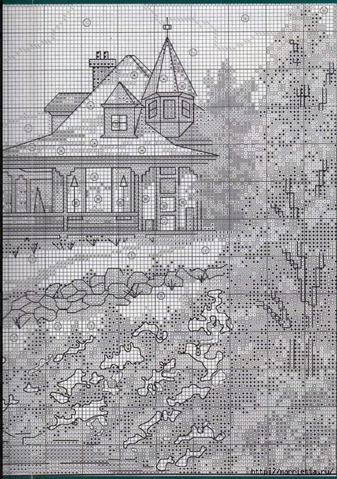 Вышивка для тех, кто мечтает о домике в деревне) (14) (493x700, 414Kb)