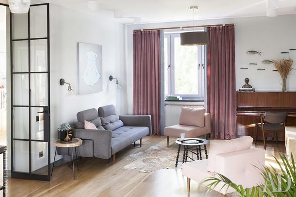 Пастельная квартира в Москве, 140 м²