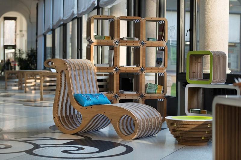 20 удивительных предметов мебели из картона