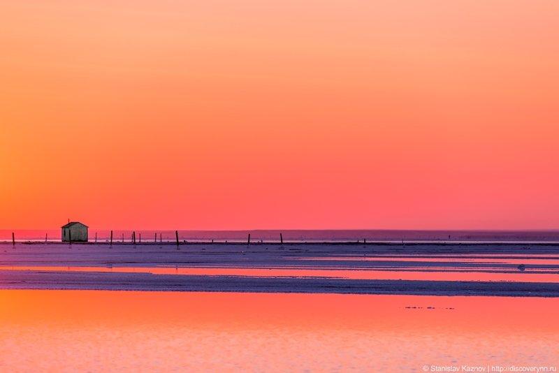 Рассвет на озере Баскунчак путешествия, факты, фото