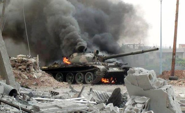 Американцы удивлены: горящий русский танк не сдался и отомстил террористам