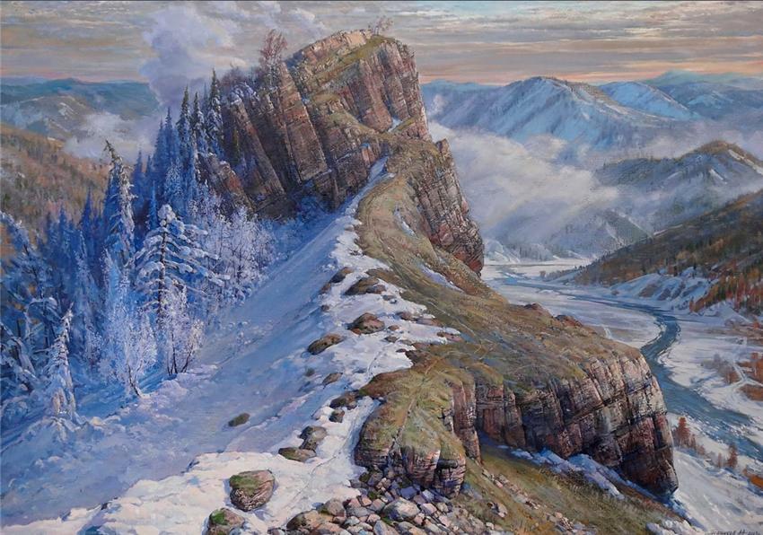 Уральские горы на картинах российского художника Алексея Александровича Петрикова