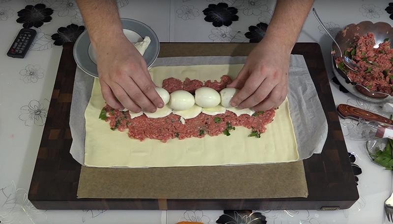 мясной пирог из лаваша