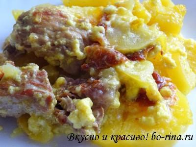 Вкусно и красиво! Картофельная запеканка с мясом