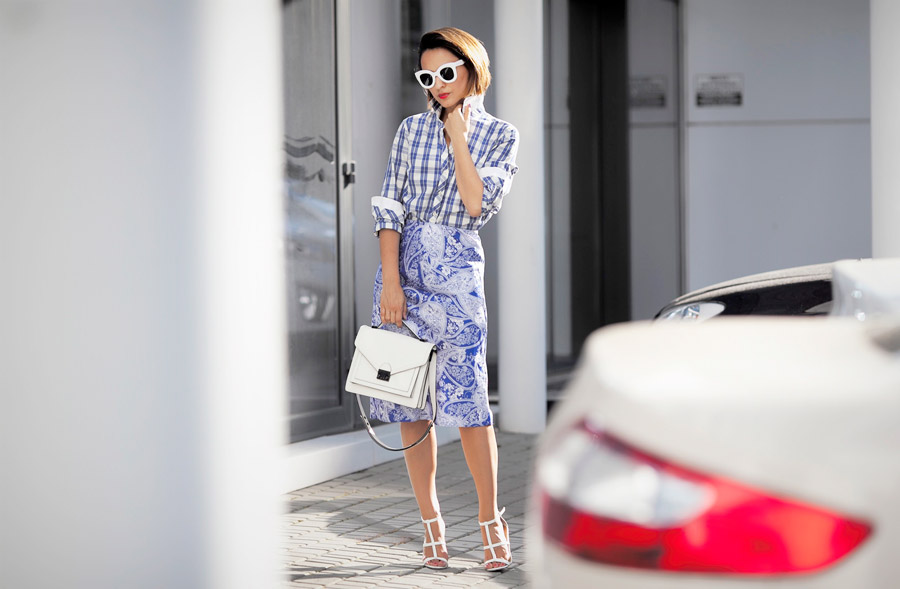 mixing_check_and_floral_prints_street_styles
