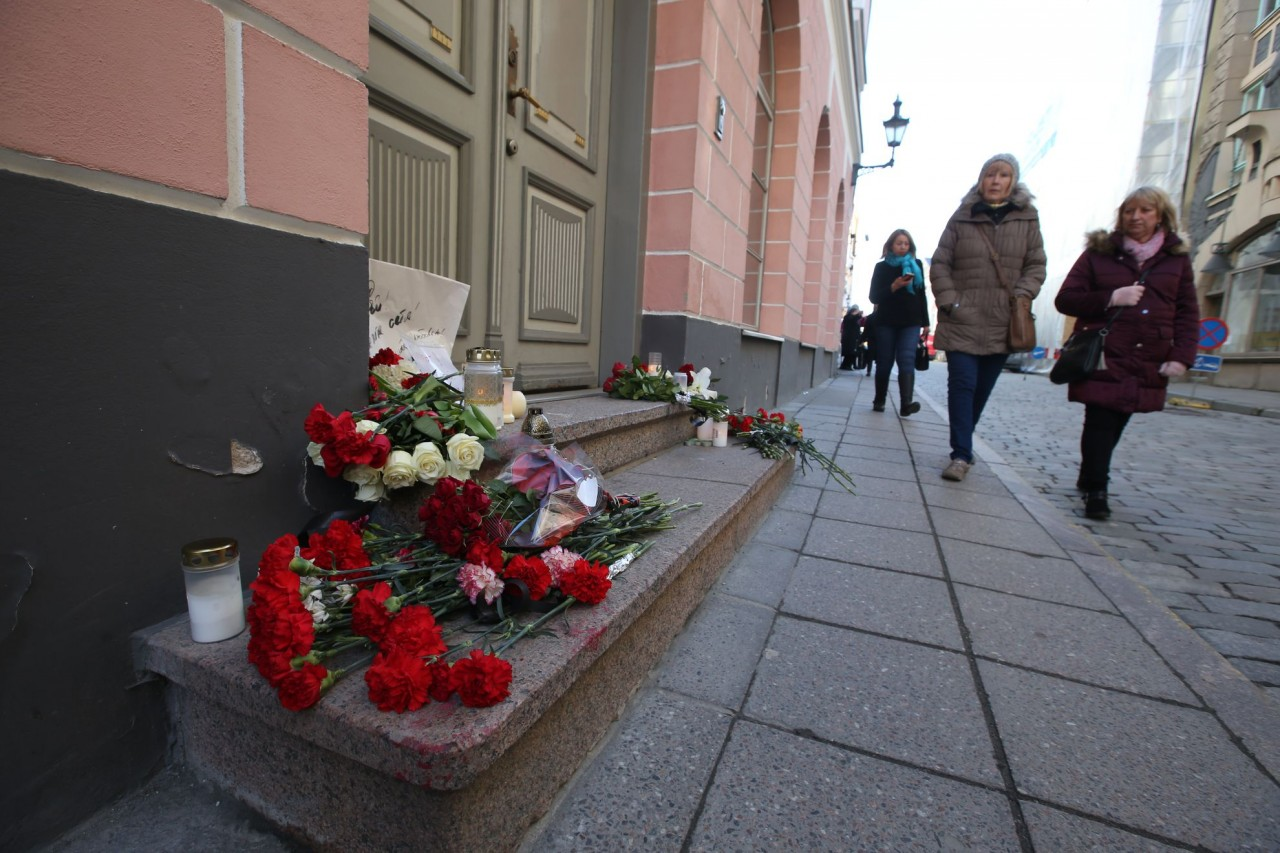 В столице Эстонии соболезную…