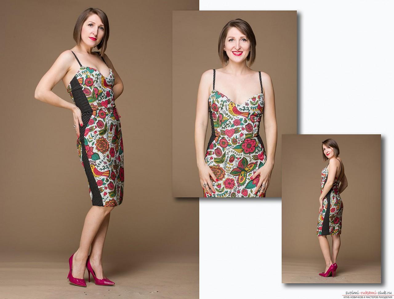 Шьем коктейльное  платье с корсажем в стиле Мэрилин Монро