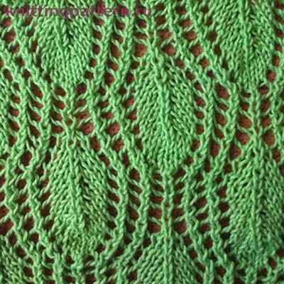 Узоры для вязания на спицах. Мотивы с листьями 3