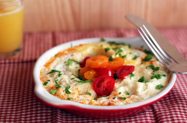 Пирог из сыра и яиц