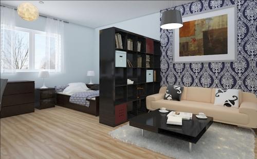 Дизайн маленькой квартиры - спальня