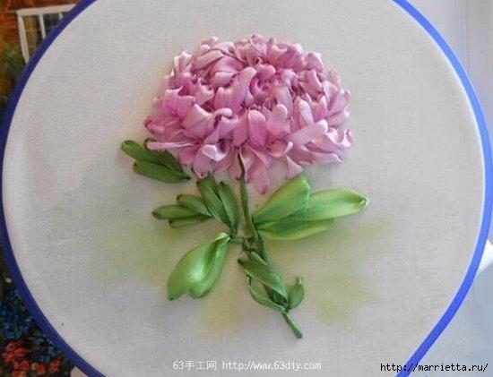 Объемная вышивка. Ромашки, одуванчики, хризантемы и мимоза (11) (550x421, 106Kb)