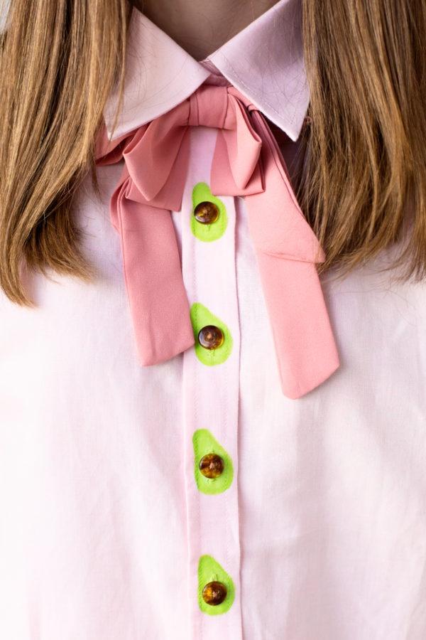 Авокадо блузка (Diy)