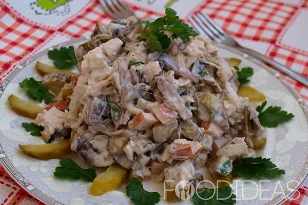 Вкусные мясные салаты рецепты