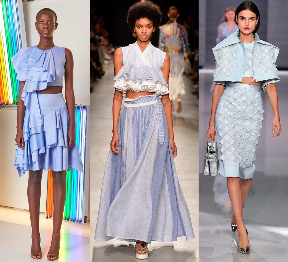 Комплект из юбки и топа — образы для скромных модниц на лето-весну 2018