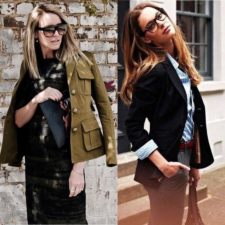 Модные фасоны женских жакетов на осень 2017 — в тренде сдержанность и стиль милитари