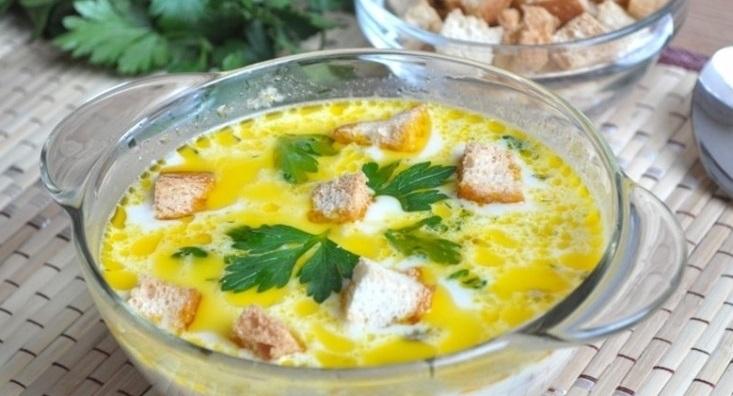 Быстрый суп с плавленым сыром