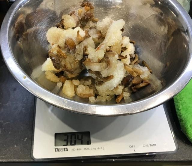 Замороженные грибочки и их реальный вес