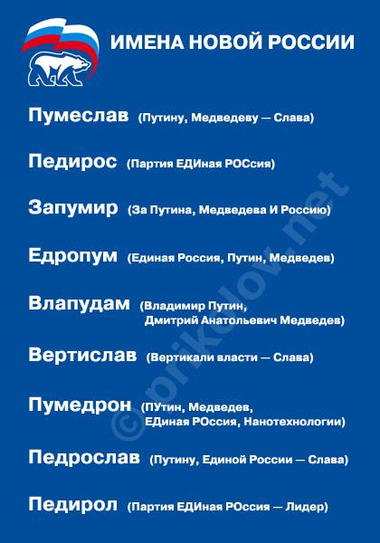 имена новой России
