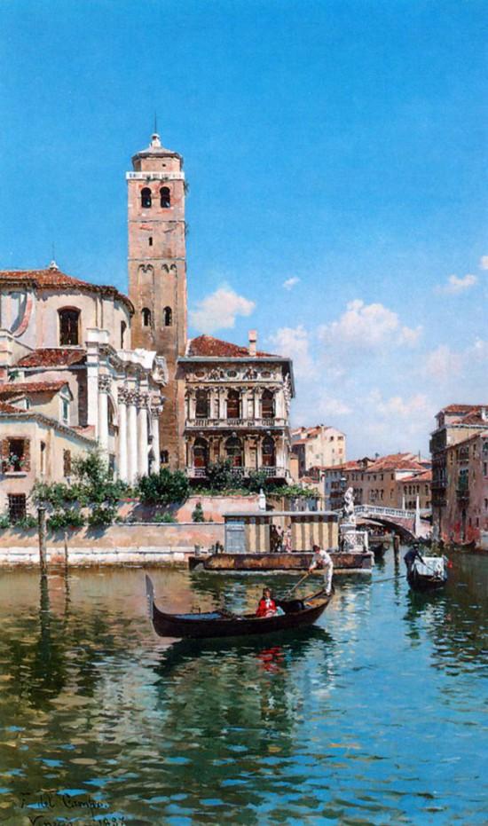 городские пейзажи художника Federico del Campo - 13