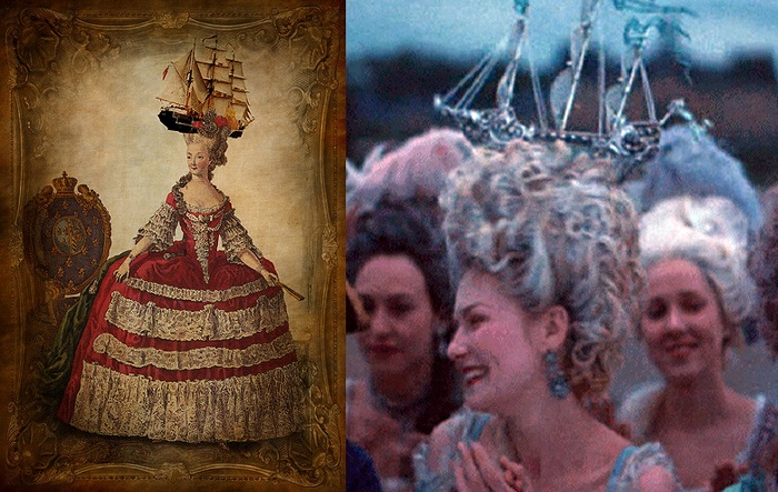 Королева Франции Мария-Антуанетта украшала прическу кораблем. | Фото: im6.kommersant.ru.