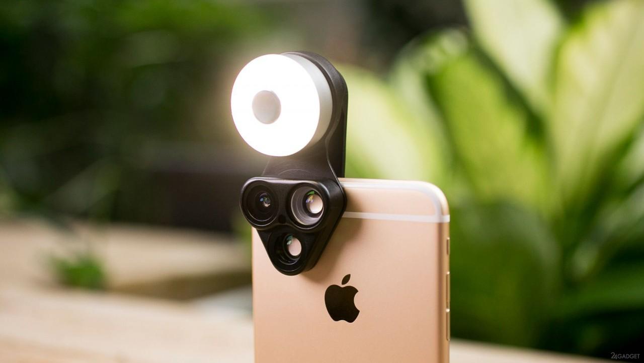 Мульти-объектив для смартфона с дополнительными преимуществами