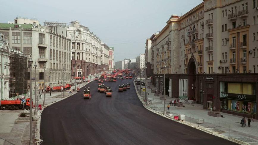 Потрясающее видео ремонта дороги на Тверской улице